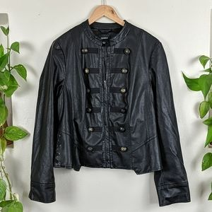 Torrid | Military Style Faux Leather Jacket